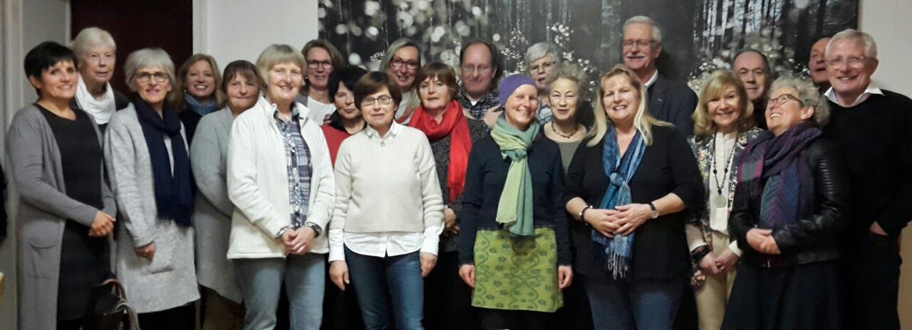 Ehrenamtliche Hospizhelfer, Koordinatoren und Vorstand der Hospiz-Bewegung
